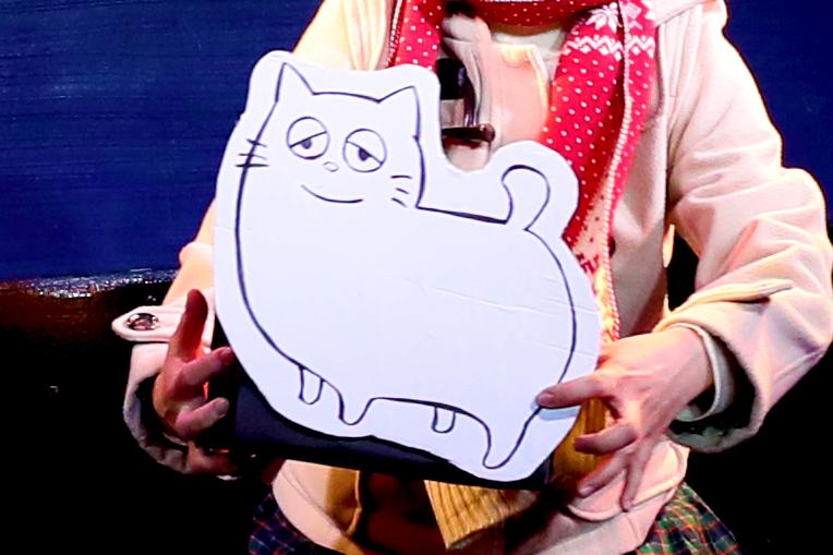 マンガみたいな顔の猫(画:藤本紗也香) N-②『マンガみたいな』