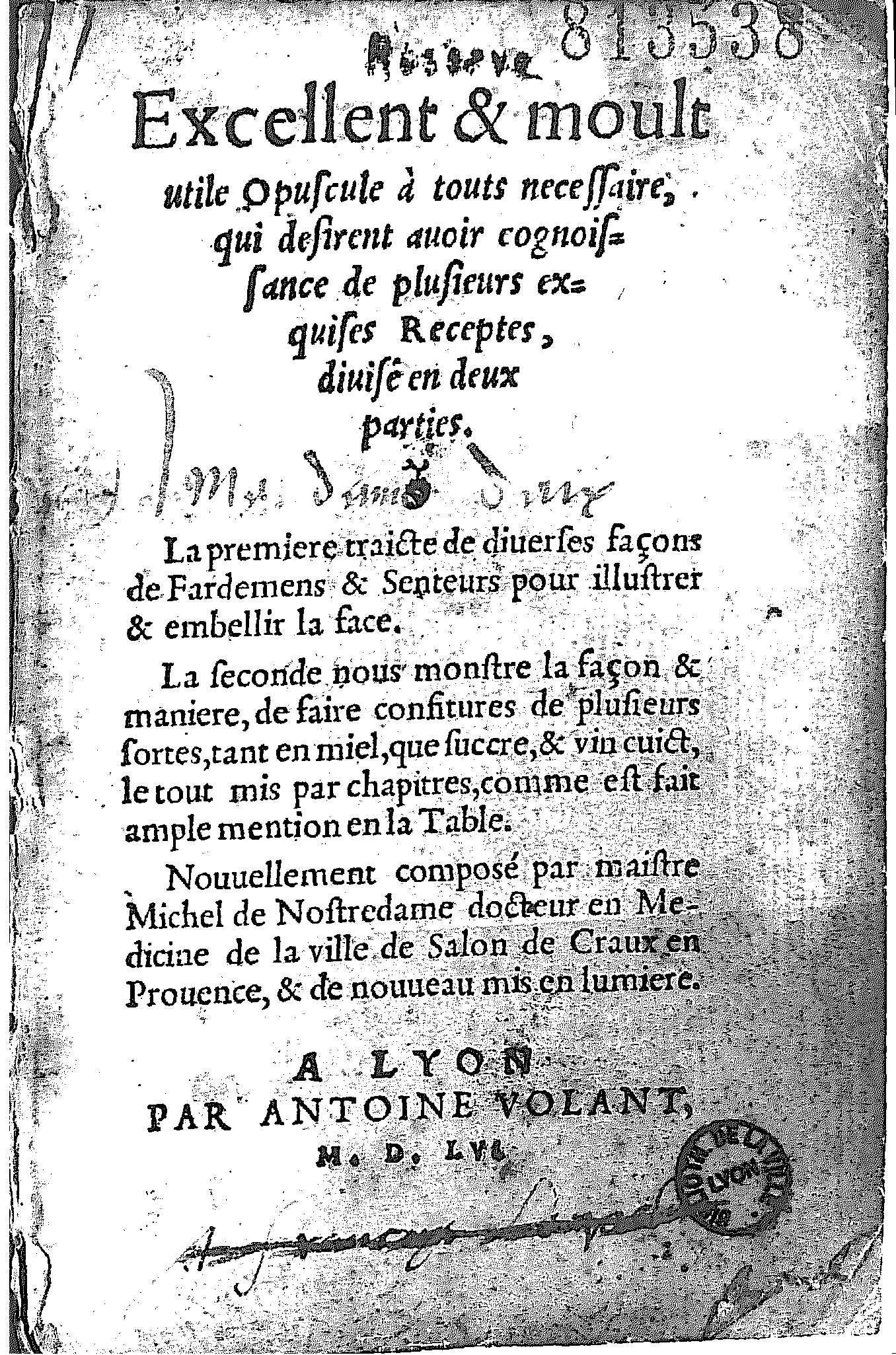Nostradamus_Traité_des_Fardements